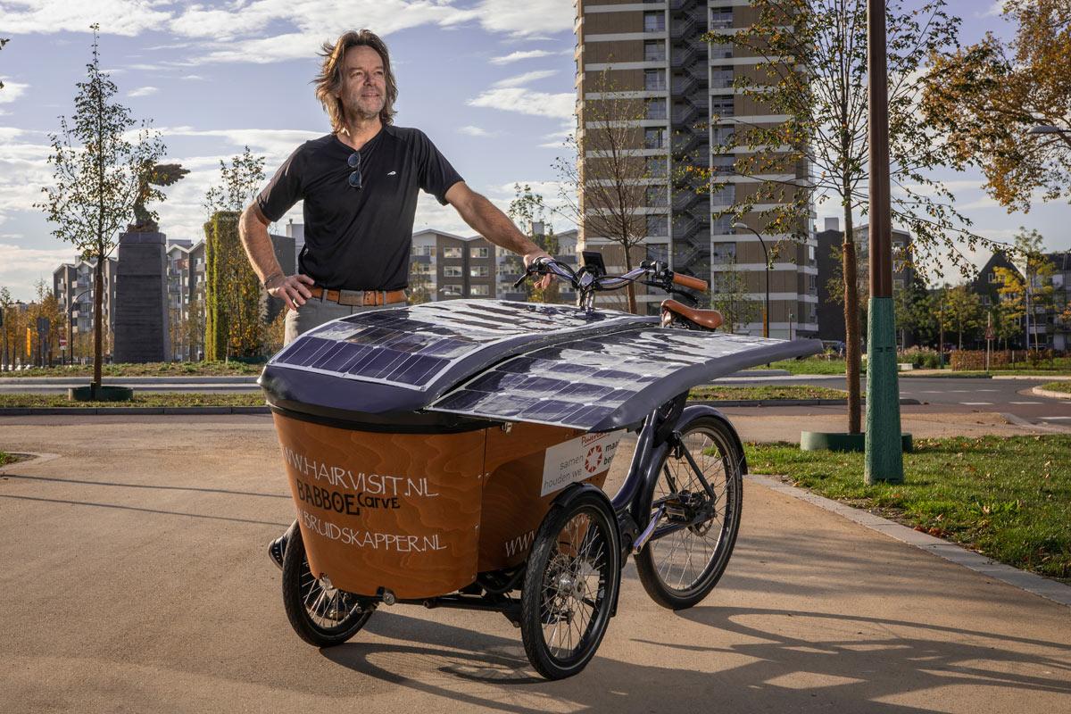HairVisit Solar Cargo Bike Solfie